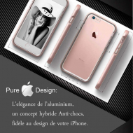 Coque iPhone 8 Diamond Hybrid Aluminium