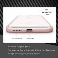 Coque iPhone 8 Diamond Hybrid Aluminium
