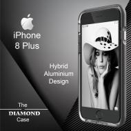 Coque iPhone 8 Plus Diamond Hybrid Aluminium