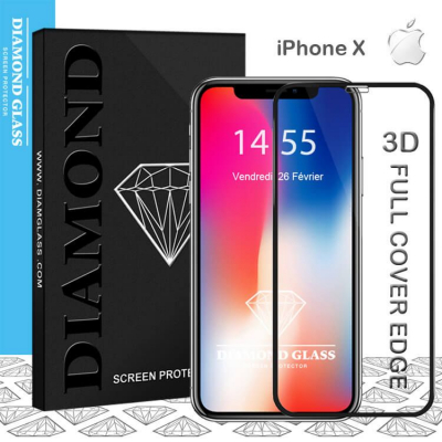 Protection écran en verre trempé iPhone X - 3D Full Cover Full adhesive