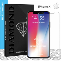 Protection écran iPhone X en verre trempé DIAMOND HD