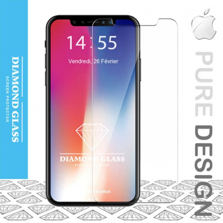 iPhone X - Protection écran en verre trempé Diamond HD
