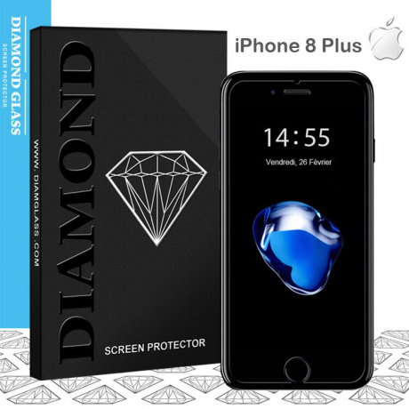 Protection Ecran iPhone 8 Plus Verre Trempé - DIAMOND HD - Tempered Glass Screen Protector