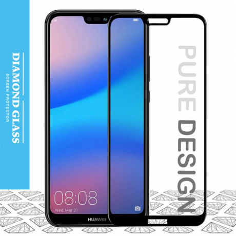 Huawei P20 Lite- Protection écran en verre trempé 3D Full Cover