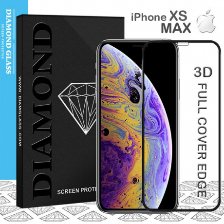 iPhone XS MAX- Protection écran en verre trempé 3D Full Cover