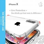 Coque Silicone transparente Apple iPhone X Antichoc