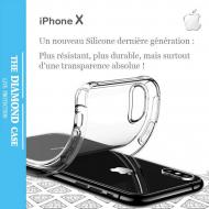 Coque Apple Silicone transparente pour iPhone X