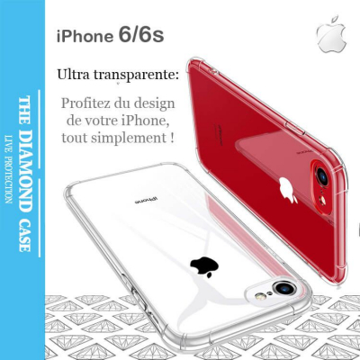 Coque Silicone transparente Antichoc Apple iPhone 6 - 6s