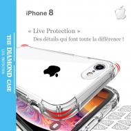 Coque Antichoc Silicone transparente Apple iPhone 8