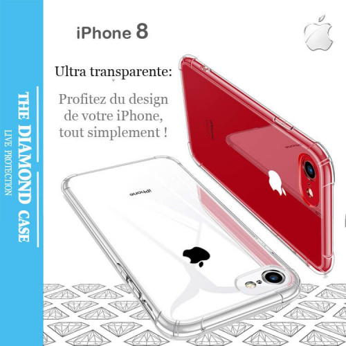 coque de protection silicone apple iphone 8 transparente. Black Bedroom Furniture Sets. Home Design Ideas