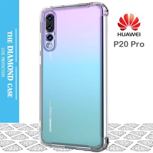 Coque de protection silicone transparente Huawei P20 Pro - Diamond ...
