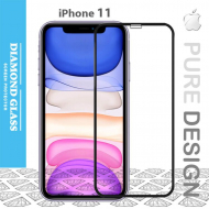 Protège écran en verre trempé intégral iPhone 11- 3D Full cover- Full Adhesive - Tempered glass screen protector