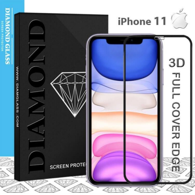 Protection écran en verre trempé iPhone 11- 3D Full cover- Full Adhesive - Tempered glass screen protector