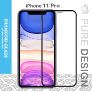 Protège écran verre trempé incurvé iPhone 11 Pro - 3D Full cover- Full Adhesive - Tempered glass screen protector
