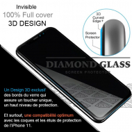 Protection écran verre trempé intégral iPhone 11 Pro - Apple- 3D Full cover- Full Adhesive - Tempered glass screen protector