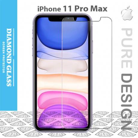 Protection écran en verre trempé iPhone 11 Pro Max 2.5D Full - Adhesive Tempered glass screen protector
