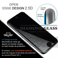 Protection verre nouvel iPhone SE 2 - 2020 - Tempered glass screen protector Diamond Glass HD