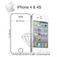 Protection d'écran en verre trempé Diamond Glass HD - Apple iPhone 4 & 4S