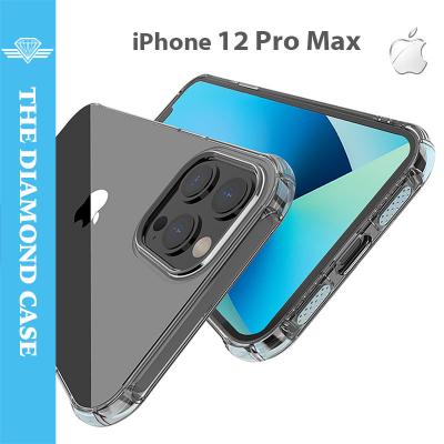 Coque Antichoc pour iPhone 12 Pro Max - Silicone transparent -  DIAMOND