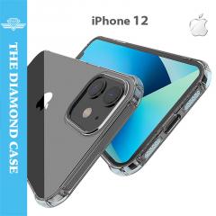 Coque iPhone 12 - Silicone transparent - DIAMOND