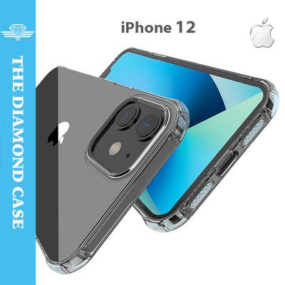 Coque Antichoc pour iPhone 12 - Silicone transparent -  DIAMOND