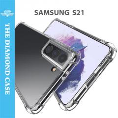 Coque Silicone Samsung Galaxy S21 - Antichoc - Transparente - DIAMOND