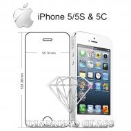 Protection d'écran en verre trempé Diamond Glass HD - Apple iPhone 5