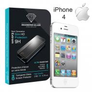Film protection d'écran en verre trempé - Apple iPhone 4 & 4S