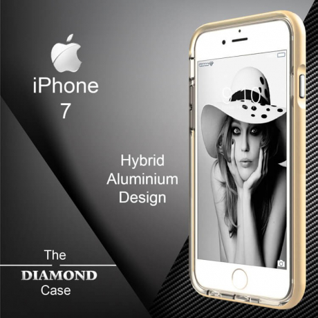 Coque iPhone 7 Diamond Hybrid Aluminium