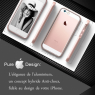 Coque iPhone SE Diamond Hybrid Aluminium