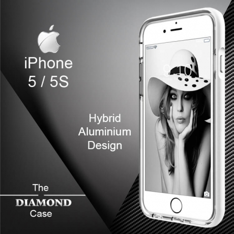 Coque iPhone 5-5S Diamond Hybrid Aluminium