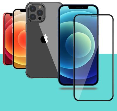 Verre trempé et coque de protection pour iPhone