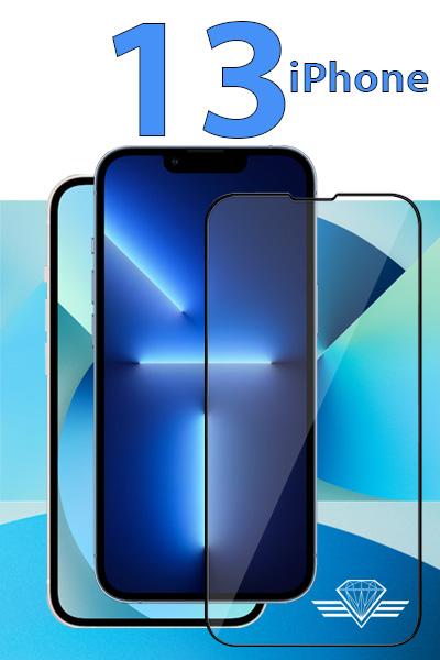 Verre trempé pour iPhone 13 - Protection d'écran Diamond Glass HD3
